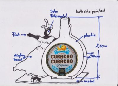 The new Curacao Liqueur label/Logo
