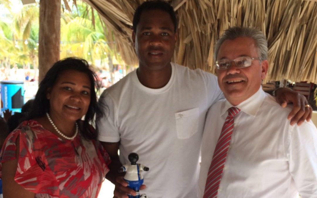 Patrick Kluivert With Soccer Bubu