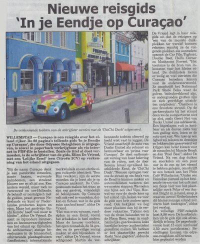"""Nieuwe reisgids """"In je Eendje op Curcao"""""""