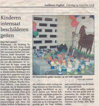 Kinderen internaat beschilderen geiten