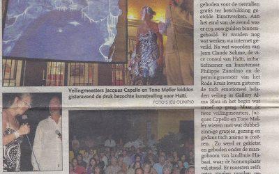"AD: Drukbezochte kunstveiling ""Help Haiti"""
