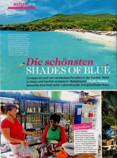 Chichi in German and Curaçao magazine