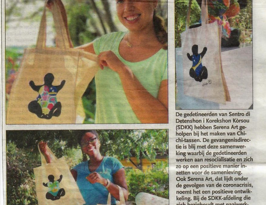 Tote bags made in prison
